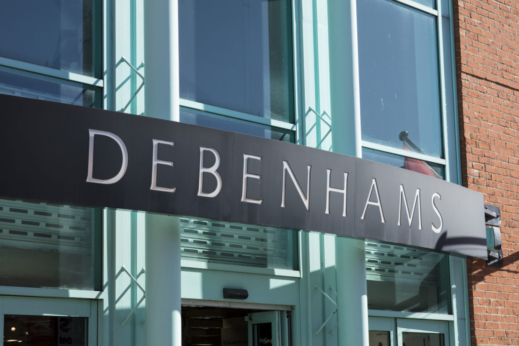 Debenhams store before administration